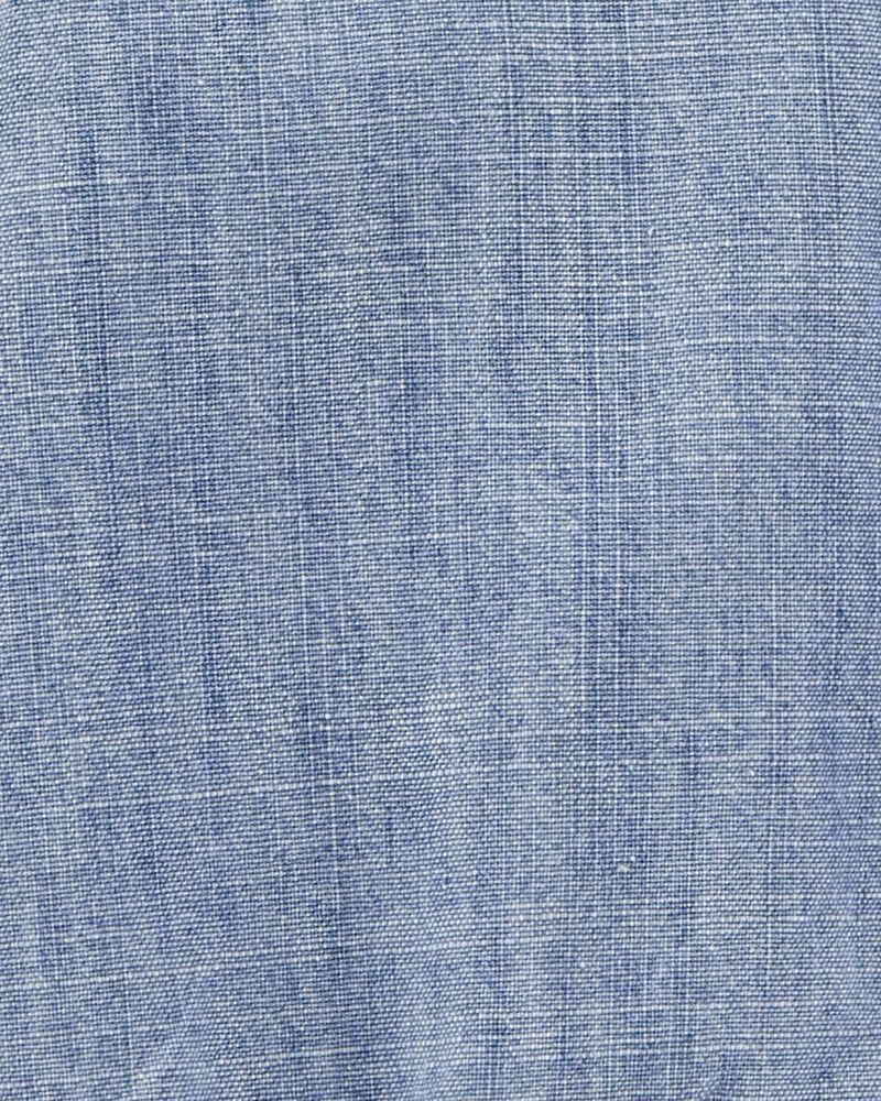 Chambray Button-Front Bodysuit, , hi-res