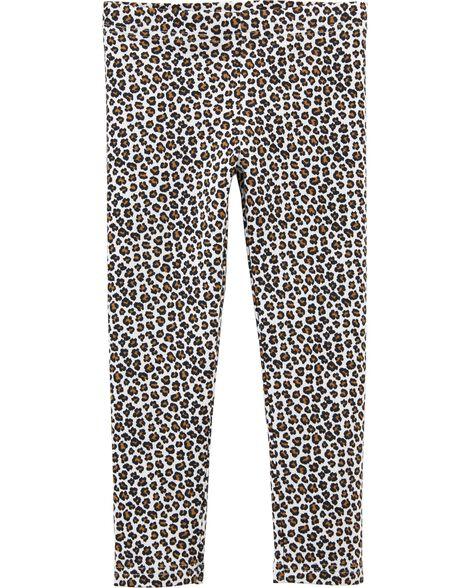 Legging à imprimé léopard
