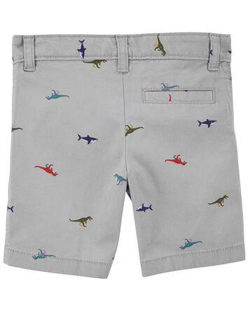 Schiffli Flat-Front Shorts