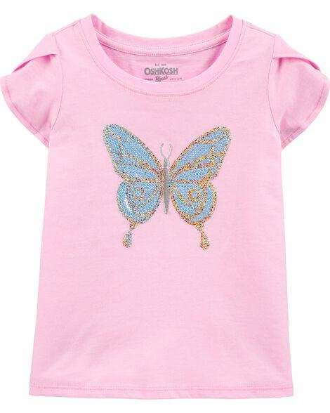 T-shirt à papillon pailleté