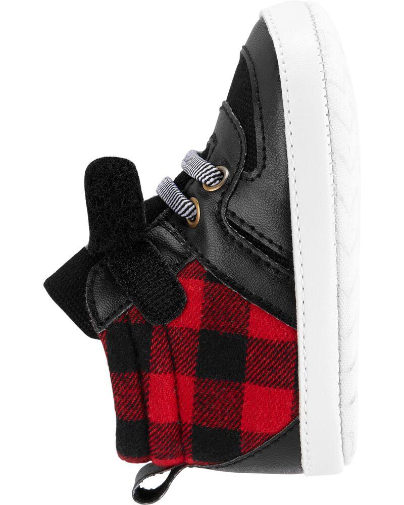 Buffalo Check High-Top Sneaker Baby Shoes, , hi-res