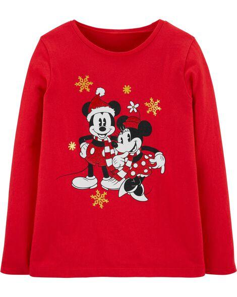 T-shirt de Noël Mickey et Minnie Mouse