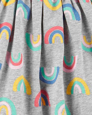 2-Piece Rainbow Dress & Legging Set