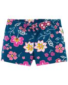 Floral Pull-On Shorts, , hi-res