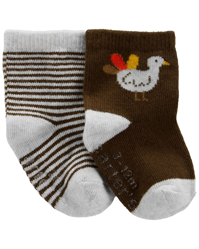 2-Pack Thanksgiving Booties, , hi-res