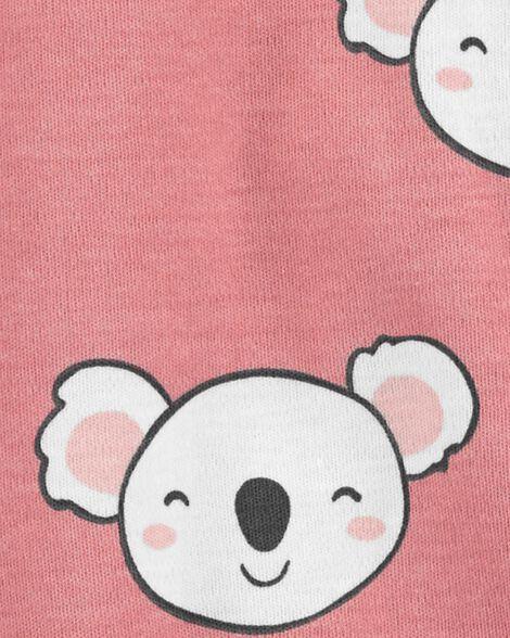 Grenouillère à boutons-pression en coton pour dormir et jouer koala