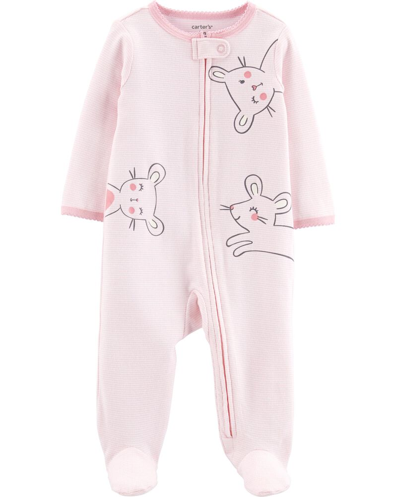 Mouse Zip-Up Cotton Sleep & Play, , hi-res