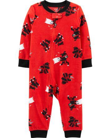 1-Piece Ninja Fleece Footless PJs