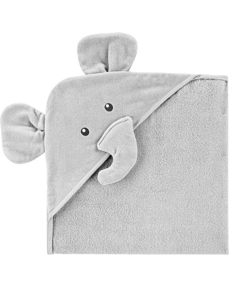Serviette de bain à capuchon éléphant, , hi-res