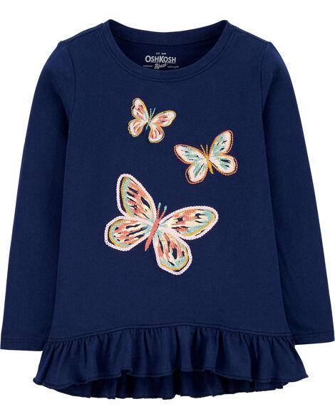 Butterfly Ruffle Hem Top