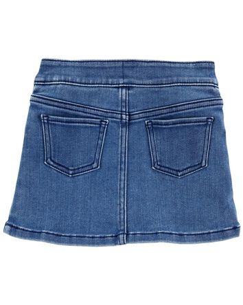 Valentine's Day Heart Denim Skirt