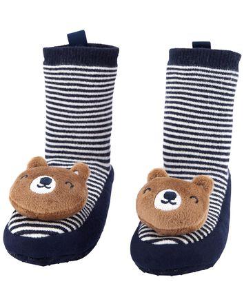 Pantoufles-chaussettes à cœur