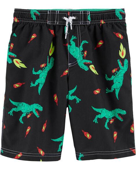 Dinosaur Hot Sauce Swim Trunks