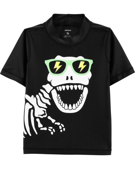 Dinosaur Skeleton UV Swim Shirt