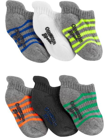 6-Pack Striped Ankle Socks