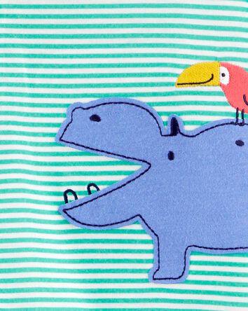 1-Piece Hippo Loose Fit Footie PJs