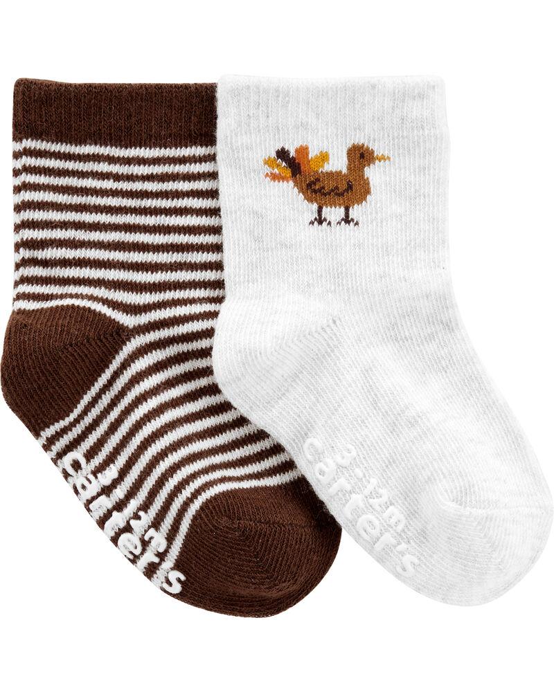 2-Piece Thanksgiving Socks, , hi-res