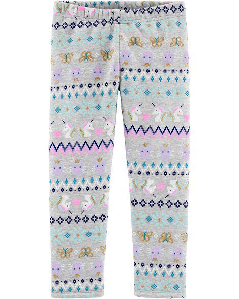 Fair Isle Cozy Fleece Leggings