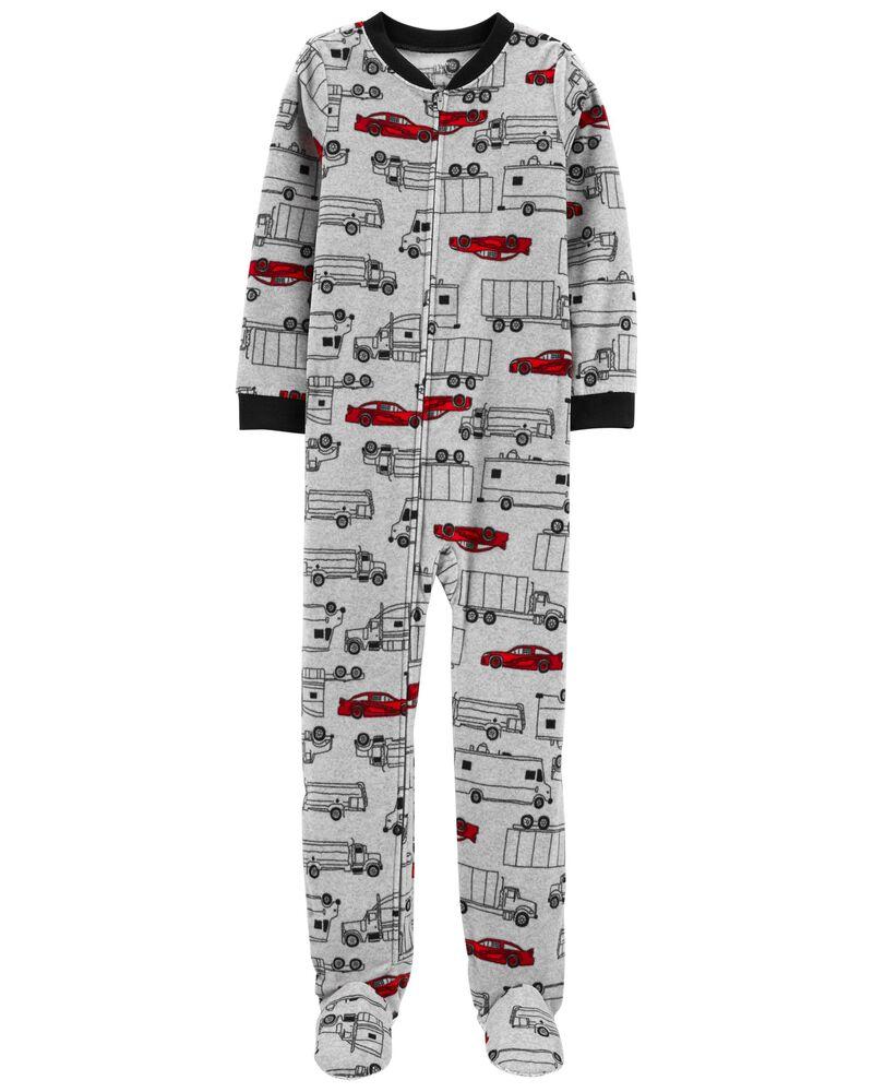 1-Piece Cars Fleece Footie PJs, , hi-res