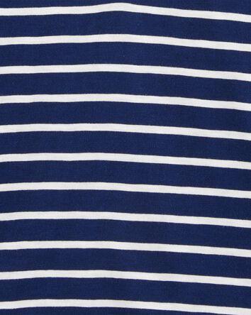 Striped Slub Jersey Henley