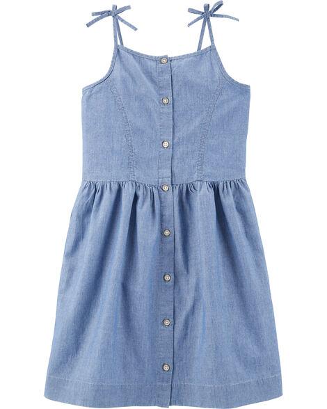 Chemise boutonnée en chambray