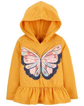 Butterfly Jersey Hooded Tee