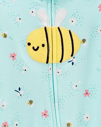 Bee 2-Way Zip Cotton Sleep & Play