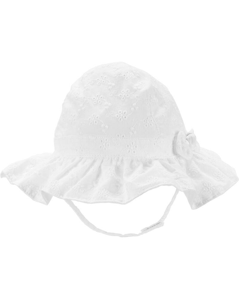 Chapeau cloche en tissu ajouré, , hi-res