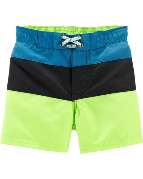 Colourblock Swim Trunks
