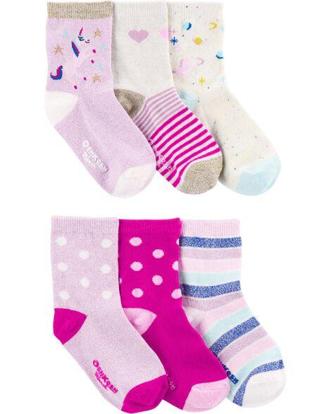 Emballage de 6 paires de chaussettes à licorne