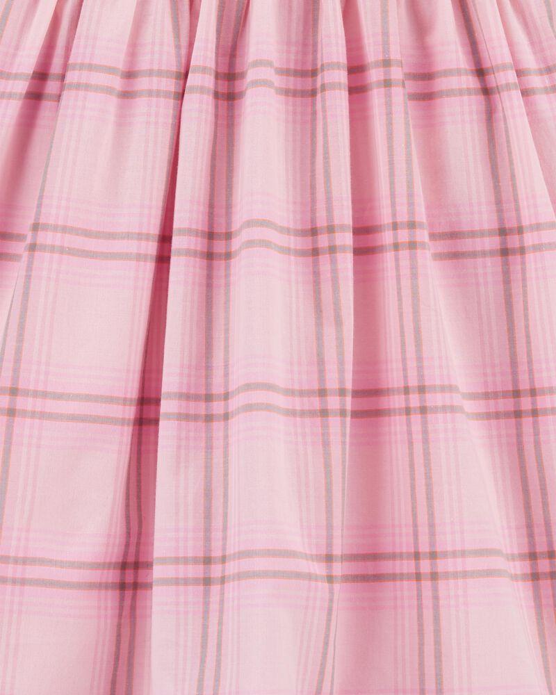 Robe boutonnée à motif écossais, , hi-res