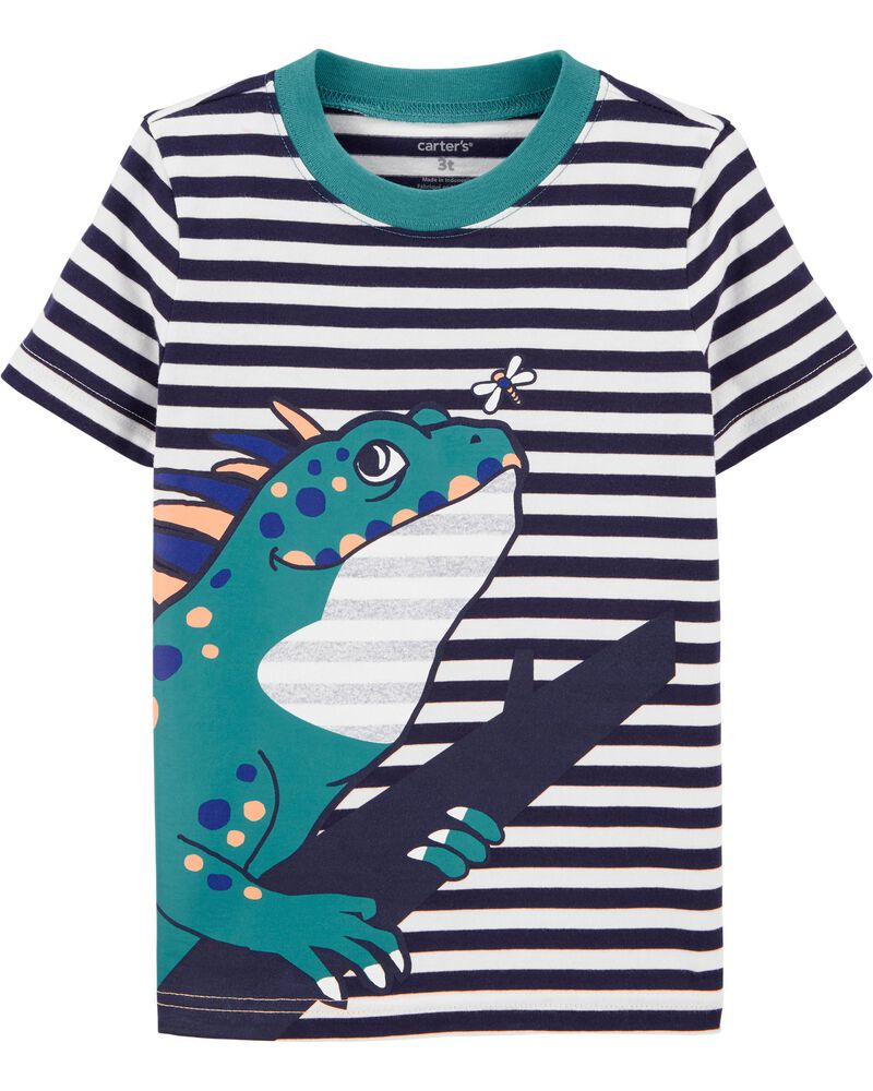 T-shirt en jersey à iguane, , hi-res