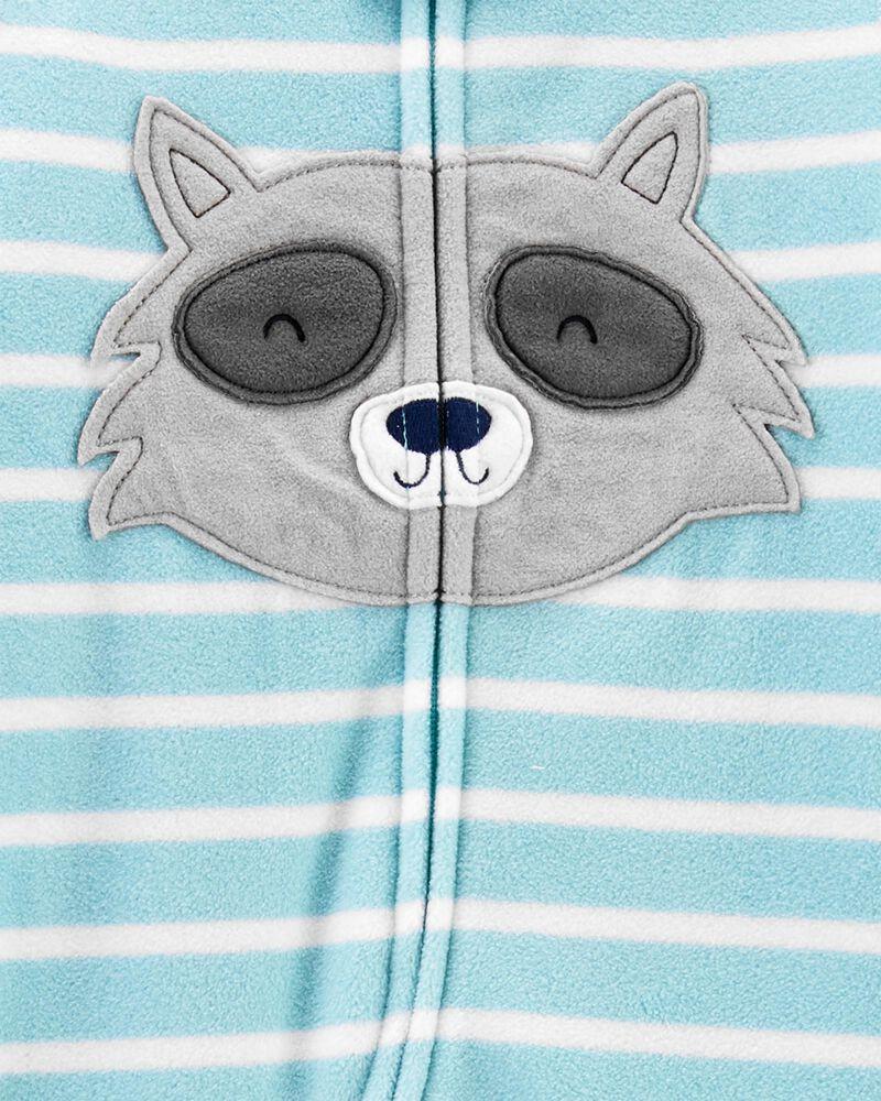 Pyjama 1 pièce en molleton à pieds raton laveur, , hi-res