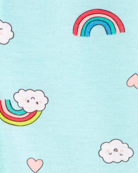 Pyjama 1 pièce en polyester avec pieds motif arc-en-ciel