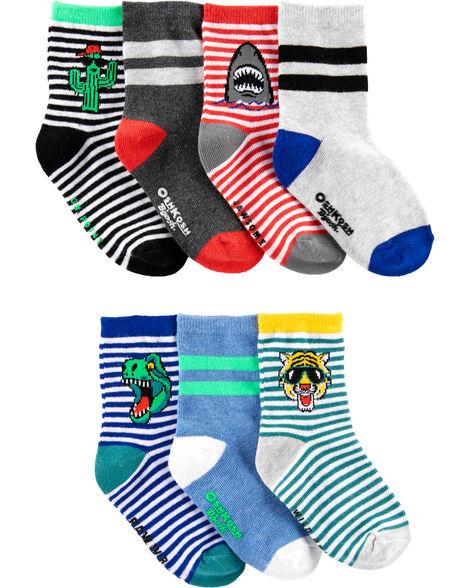 7 paires de chaussettes mi-mollet à motifs