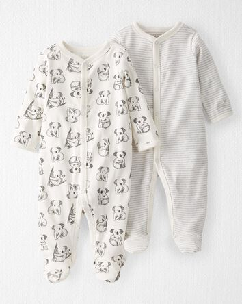 2-Pack Organic Cotton Snap-Up Sleep...