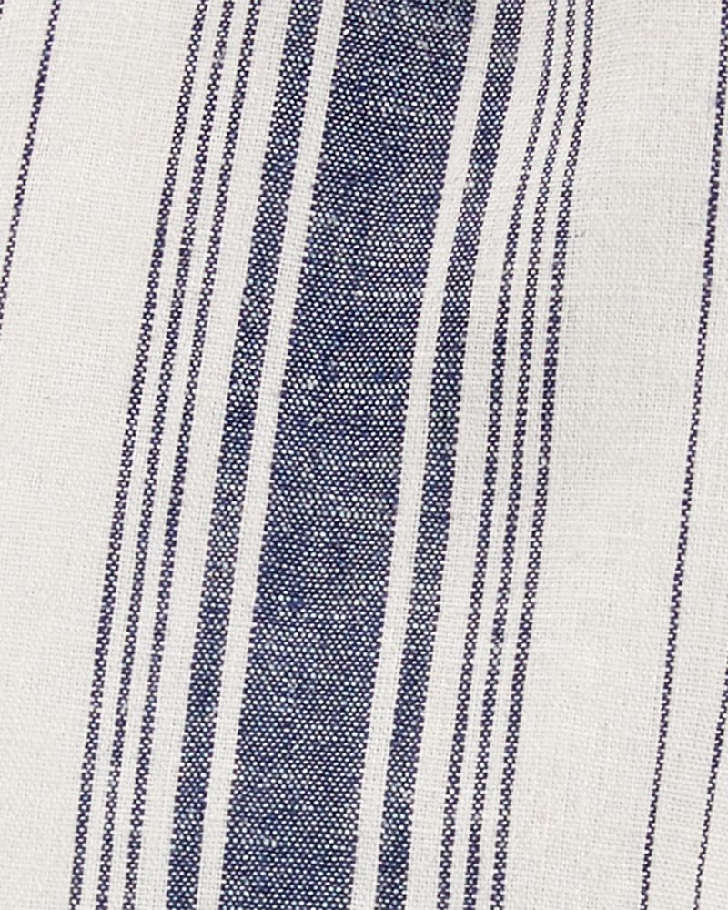 2-Piece Striped Linen Tank & Short Set, , hi-res