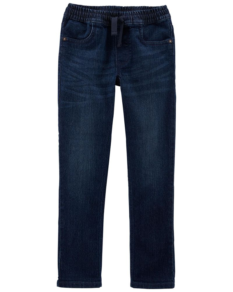 Tapered Relaxed Pull-on Jeans in Yeti Blue, , hi-res
