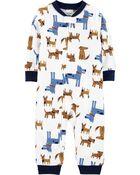 Pyjama 1 pièce sans pieds en molleton à chien, , hi-res