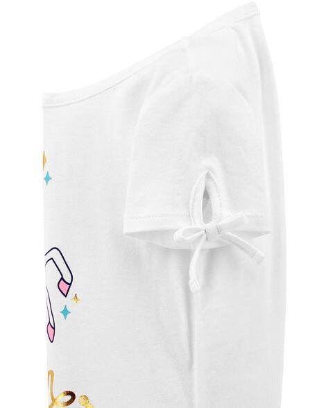 Unicorn Power Tie-Sleeve Tee