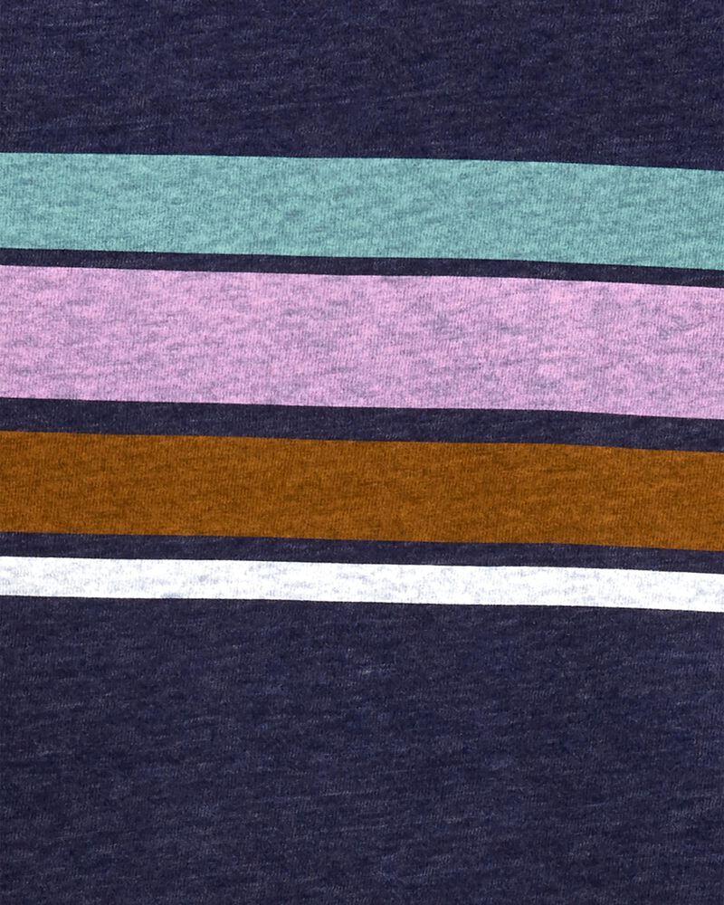 Striped Snow Yarn Tee, , hi-res