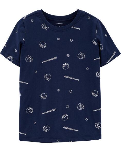 T-shirt en jersey de baseball