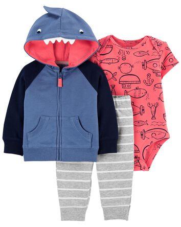 3-Piece Shark Little Jacket Set