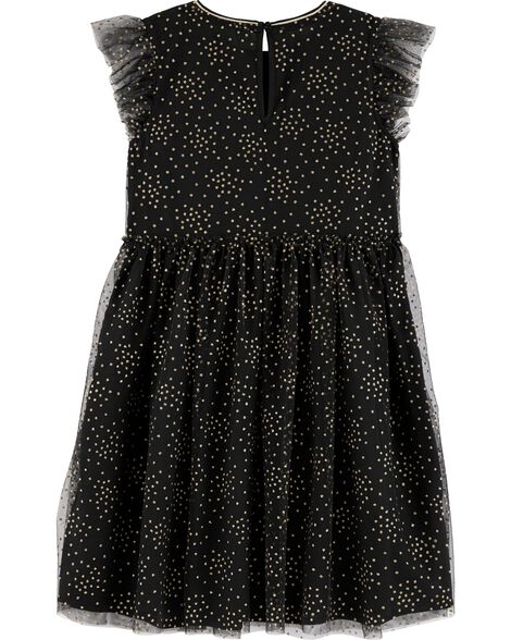 Gold Polka Dot Tulle Dress