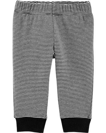 Striped Pull-On Pants
