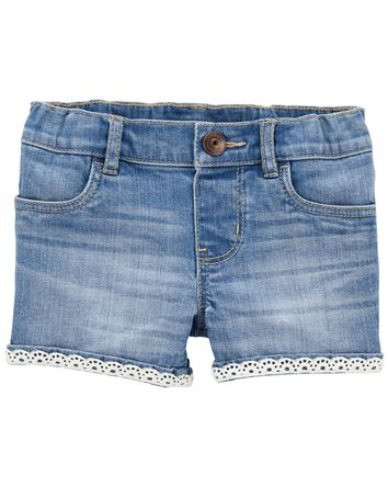 Stretch Denim Shorts in Nineties Wa...