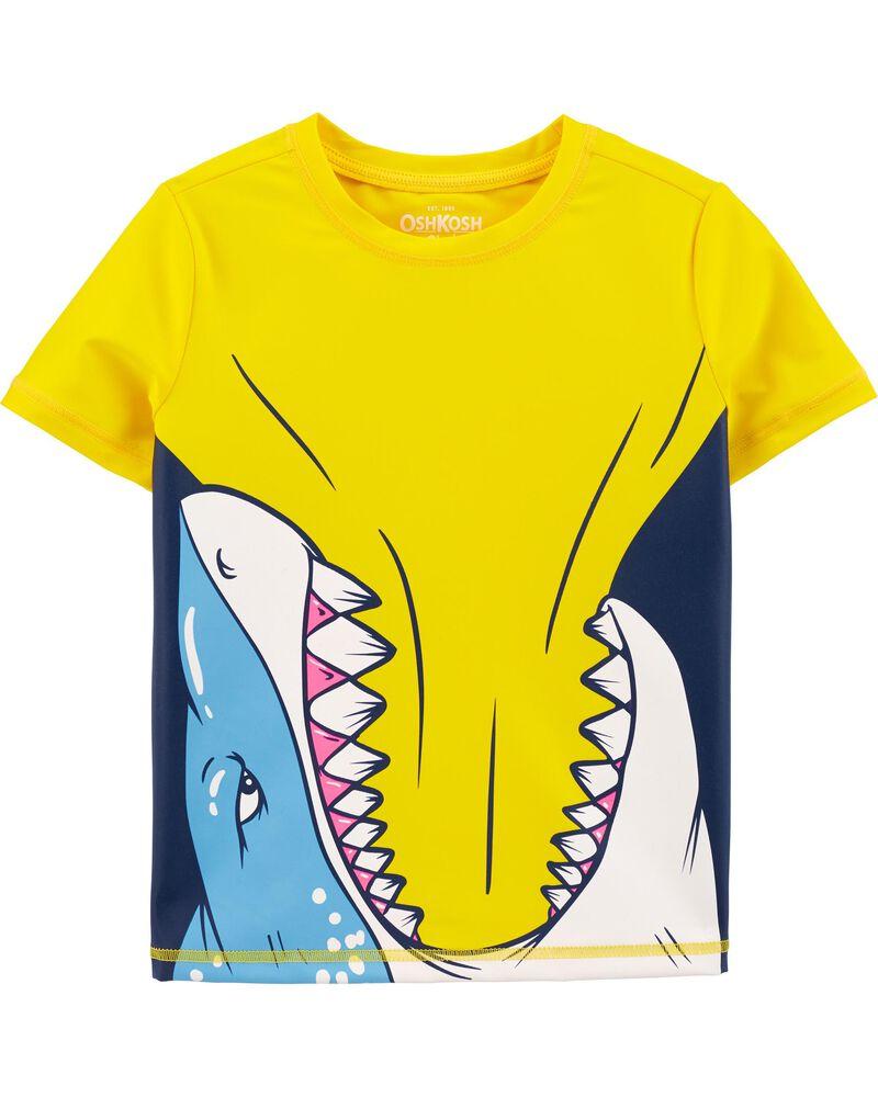 Maillot dermoprotecteur à imprimé de requin, , hi-res