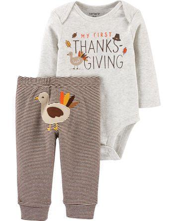 2-Piece Thanksgiving Bodysuit Pant...