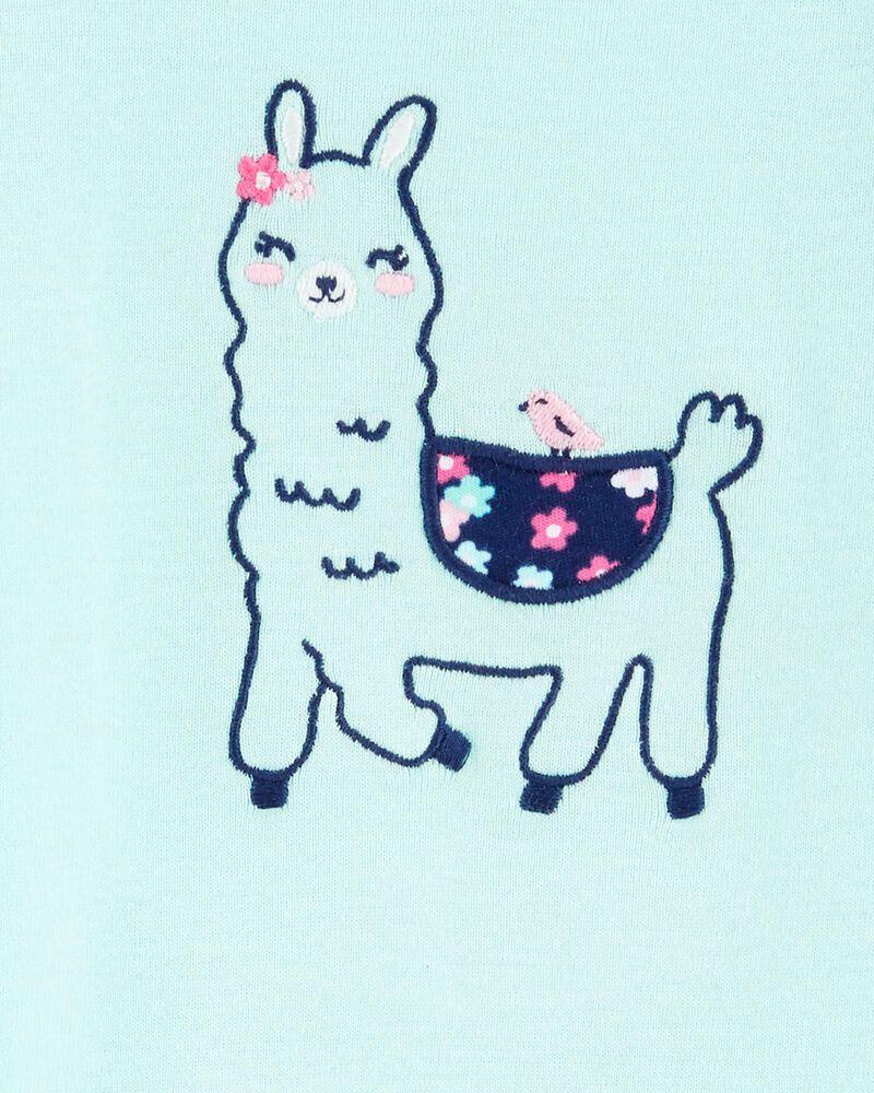 2-Piece Llama Bodysuit & Floral Short Set, , hi-res