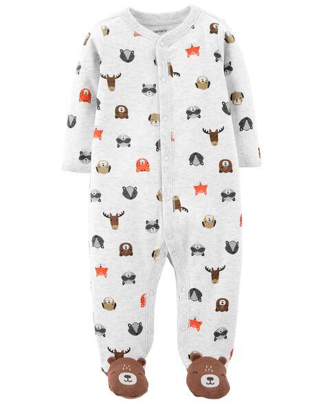 Bear Snap-Up Cotton Sleep & Play